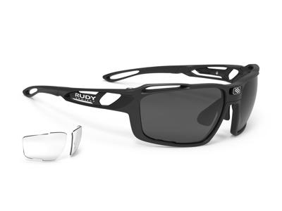 Rudy Project Sintryx - Løbe- og cykelbrille - Smoke Black Transparent linser