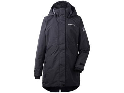 Didriksons Tanja Womens Parka - Vandtæt damejakke m. for - Sort