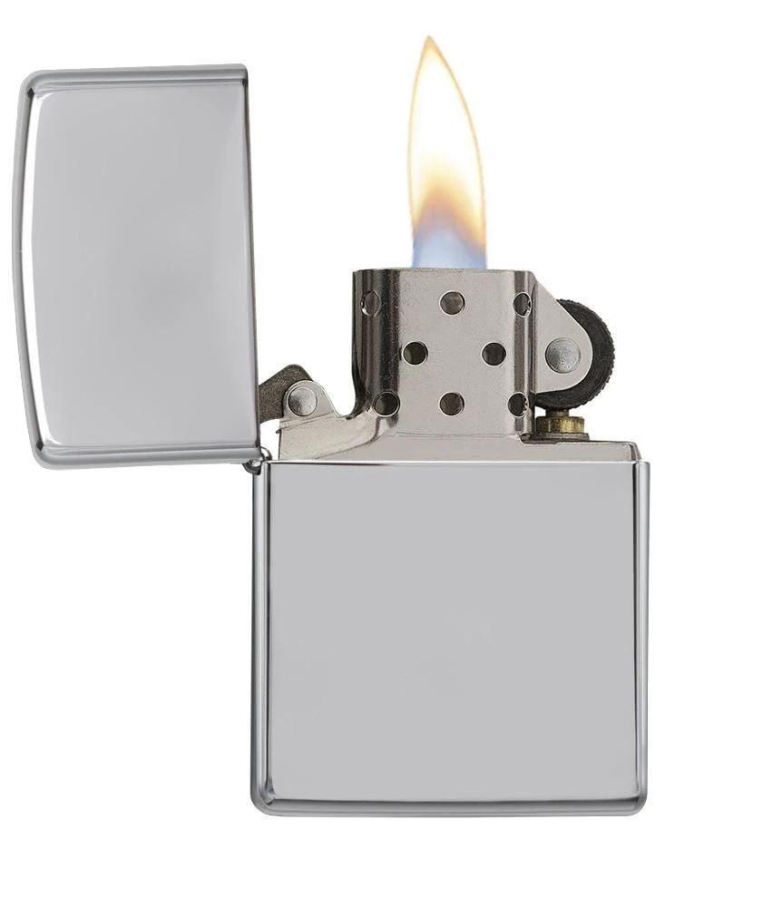 Zippo High Polish Chrome - Lighter - Poleret krom | polish_and_lubricant_component