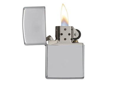 Zippo High Polish Chrome - Lighter - Poleret krom