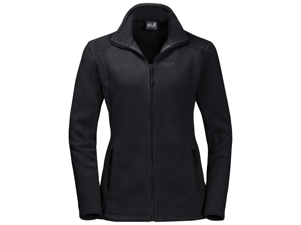 Jack Wolfskin Midnight Moon Fleece jakke - Dame Str. L - Black thumbnail