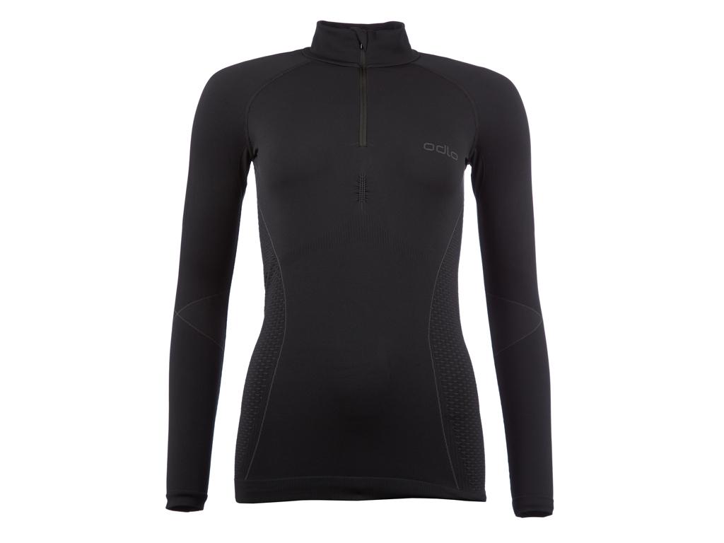Image of   Odlo 1/2 zip Evolution warm - Langærmet bluse til dame - Sort - Str. L