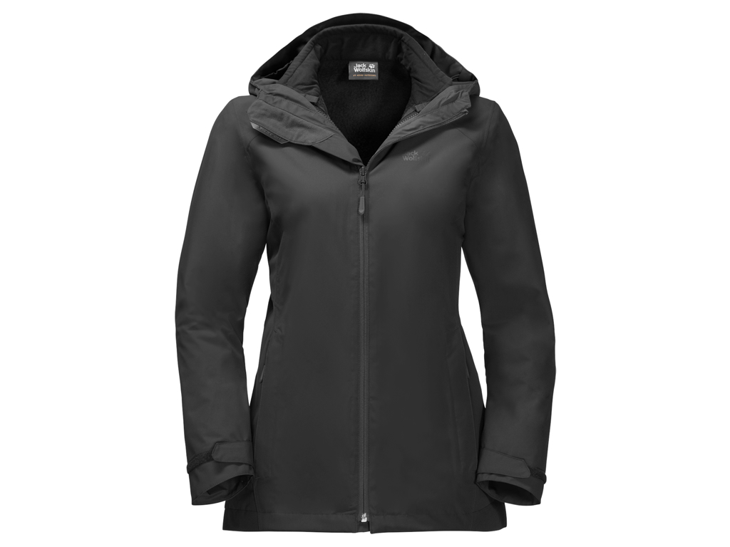 Jack Wolfskin Norrland 3in1 Women - Vandtæt 3i1 damejakke - Sort - Str. XL thumbnail