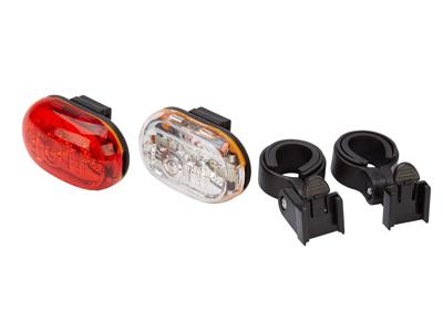 D.Light CG400 - Lyktset  med batteri - flera funktioner - Med klick-beslag