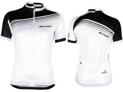 XTreme X-Rainbow - Cykeltrøje - Dame - Hvid/Sort
