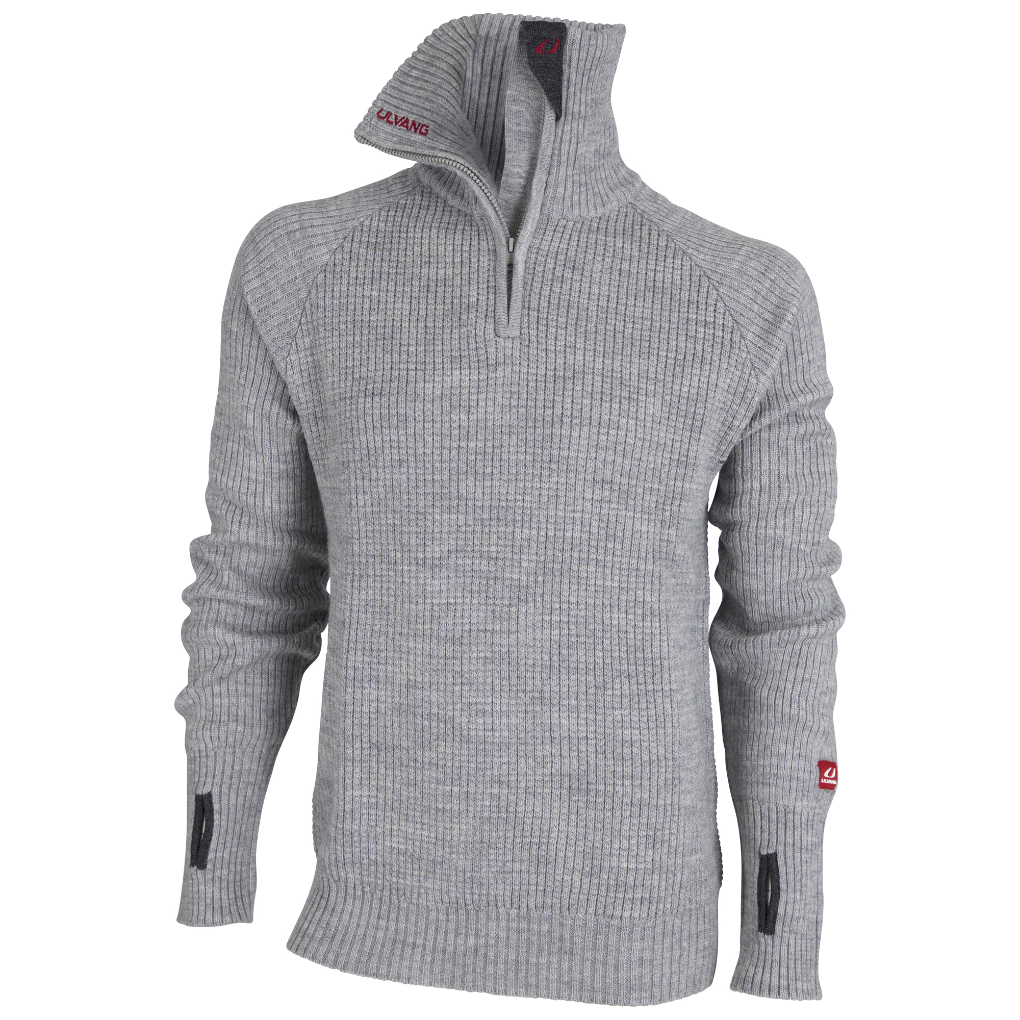 Ulvang Rav Sweater w/zip - Uldtrøje Unisex - Grå | Jackets