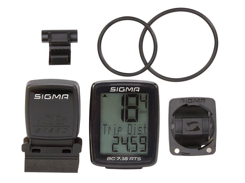 Sigma Sport - BC 7.16 ATS - Trådlös Cykeldator - 8 funktioner