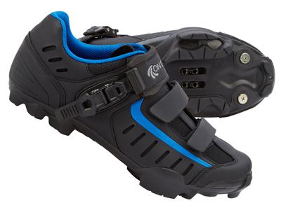 On Gear Cykelsko XC MTB - Matsort med blå detaljer
