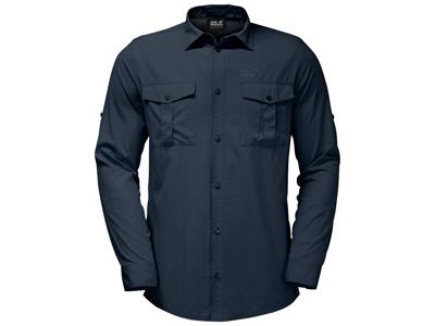 Jack Wolfskin Atacama Roll-up Skjorte - Herre - Mørkeblå