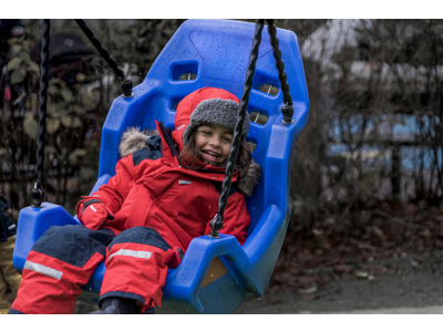Didriksons Björnen Kids Coverall - Flyverdragt - Rød