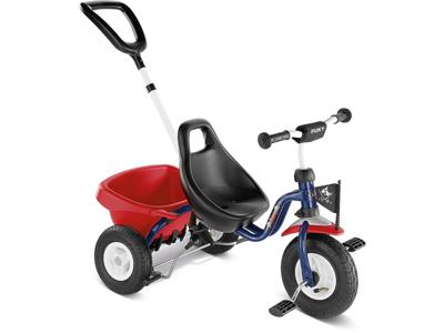 Trehjulet cykel Puky med lad og skubbestang - Farve: Capt'n Sharky