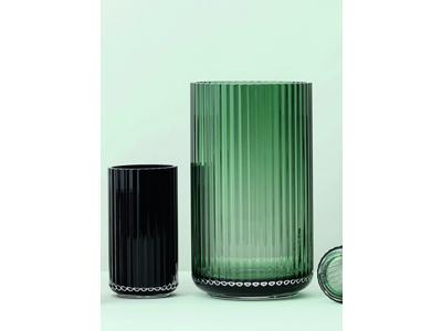 Sampak Lyngby Porcelæn glasvaser, Copenhagen Green 20 sm, so