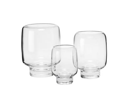 Hoop vaser 14, 18, og 20 cm i klart glas