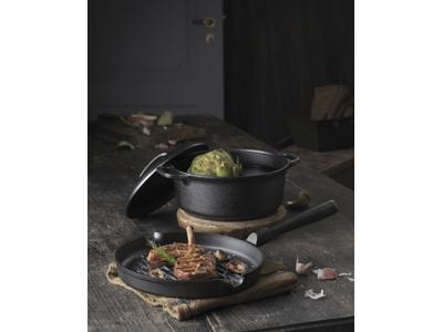 Le Gourmet grillpande og gryde med låg