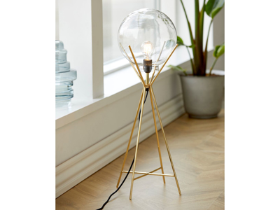 Lampe Knold 26x80 cm clear Mes