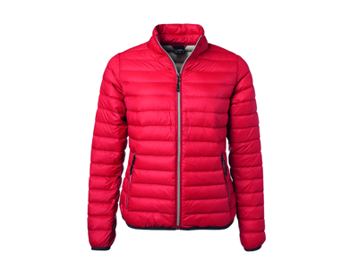 Damejakke Ladies´ Down Jacket Red/Silver
