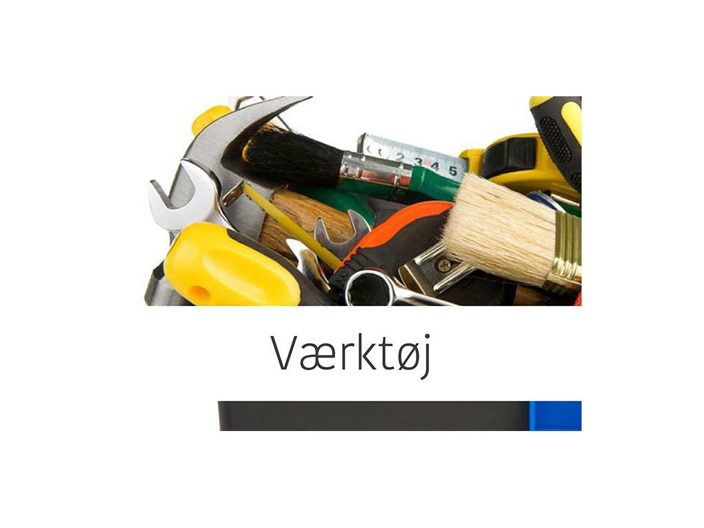 Værktøj og haveredskaber
