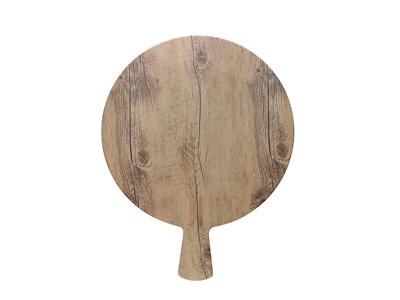 Serveringsbræt, rund trælook 28 cm