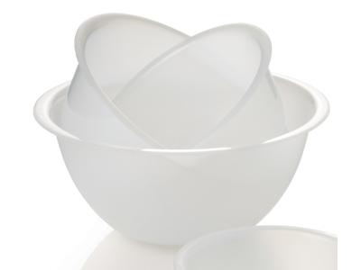 Skål plast hvid 6 liter Ø 32 cm