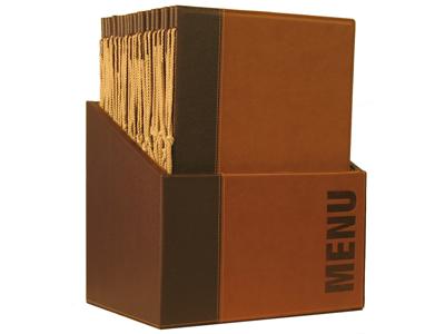 Menukort Box 20 stk A4 brun Trendy