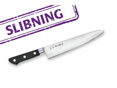 Håndkniv slebet under 21 cm.
