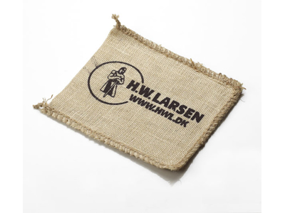 Oven mit made from burlap