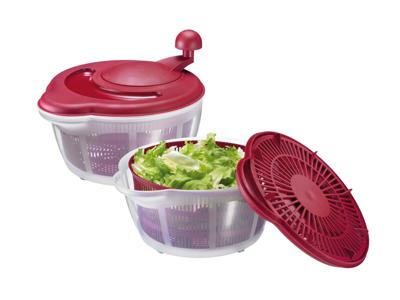 Salatslynge plast rød/gennemsigtig