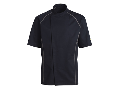 Black Chef Jacket with Grey piping size M