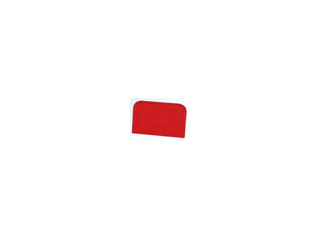 Dejskraber Rød 121 x 81mm firkant 2 rund