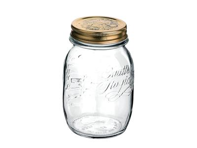 Quatro konserveringsburk av glas