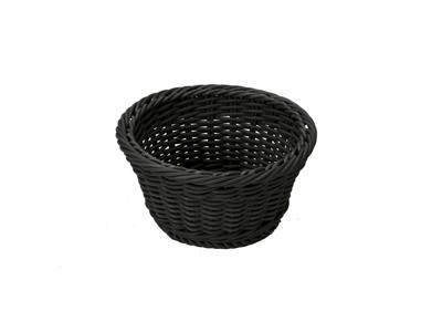 Brødkurv rund 18,5x10 cm, sort