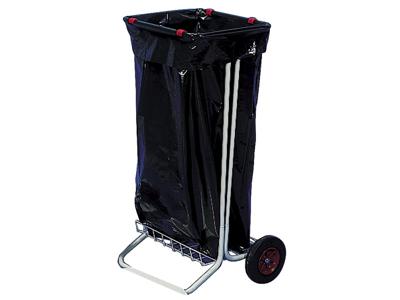 Affaldsstativ lysgrå m/ 2 hjul