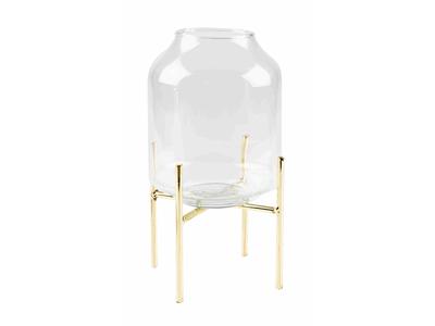 Vase glas cylinder m/ben Ø12 cm