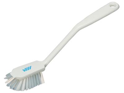Opvaskebørste m. skrabekant hvid