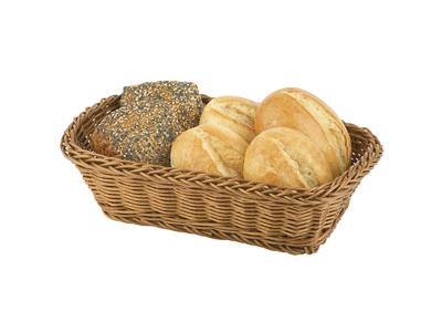 Brödkorg, naturfärgad, av polypropylen, rektangulär