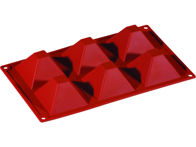 Bageform Silicone 1/3 GN, 6 pyramider