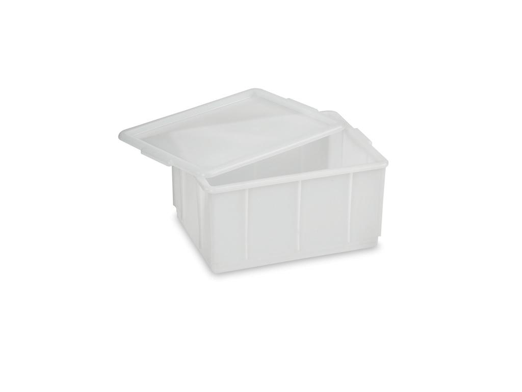 Stabelkasse hvid 23 ltr 43x32,5x21 cm
