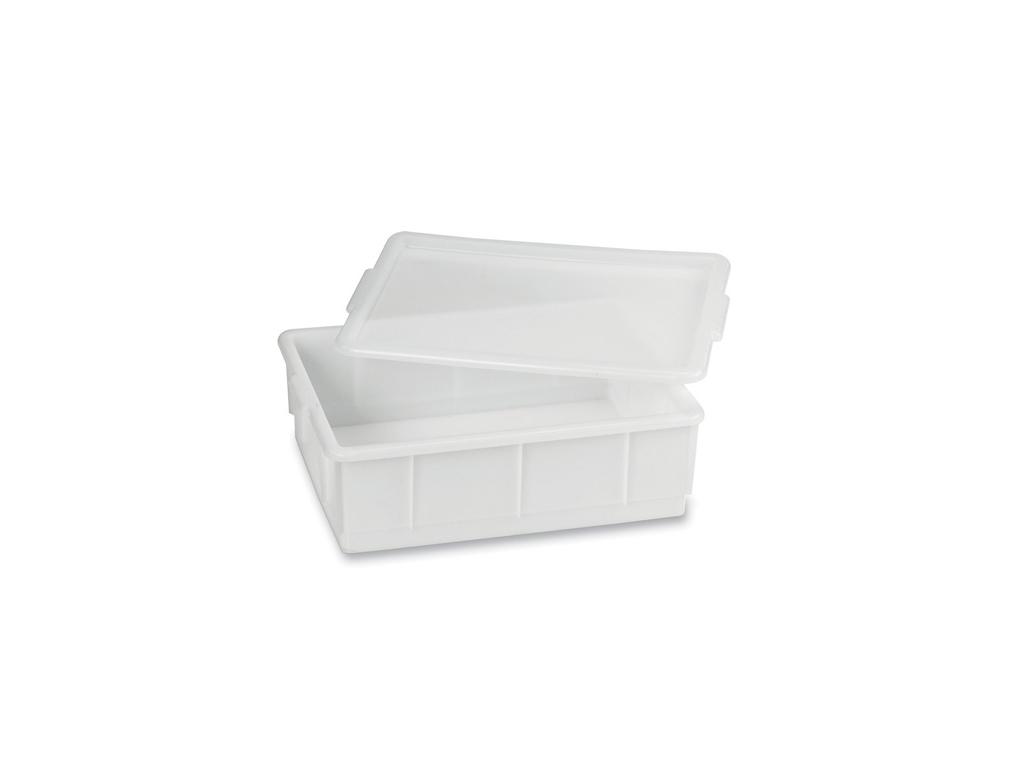 Stabelkasse hvid 13 ltr 43x32,5x13 cm