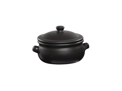 Paella skål m/lock Ø 15 cm svart
