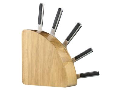 Knivblok til 10 knive Hvid Eg