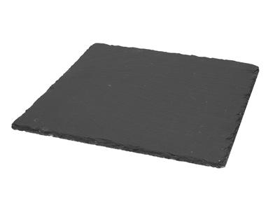 Skiffertallerken, kvadratisk, 30x30 cm