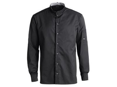 Kokkeskjorte lang ærm sort XS