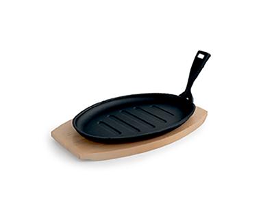 Tallerken Støbejern oval 29x18 cm