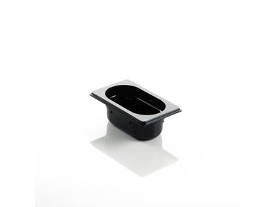 Kantine Polycarbonat *Sort 1/9 GN 10 cm