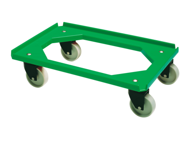 Traller Grøn 40x60 cm åbne hjørner u. gi