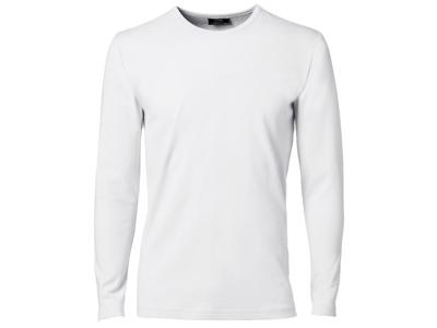 T-shirt lange ærmer rund hals S Hvid