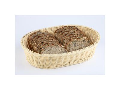 Brödkorg, naturfärgad, av polypropylen, oval