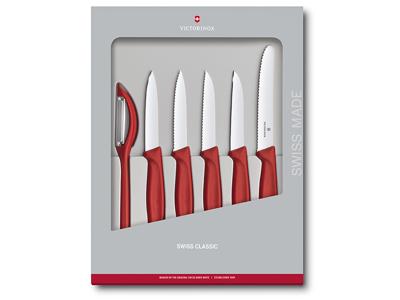Pyntekniv sæt Victorinox 6-P Rød