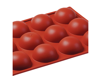 Bageform Silicone 1/3 GN, 15 halvkugler