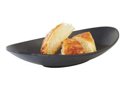 Melamin skål, Zen sort 25 x 13,50 cm.